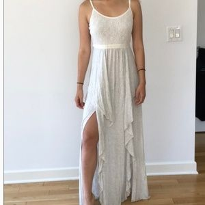 Urban Outfitters Kimchi Blue Maxi Light Gray Dress